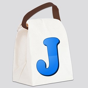 J (Colored Letter) Canvas Lunch Bag