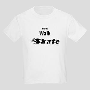 crawl walk skate Kids Light T-Shirt