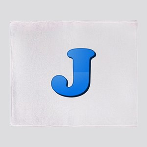 J (Colored Letter) Throw Blanket