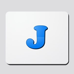 J (Colored Letter) Mousepad