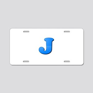 J (Colored Letter) Aluminum License Plate