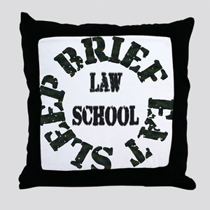 Brief Eat Sleep Throw Pillow