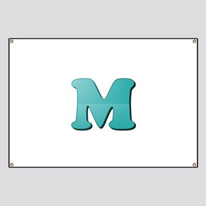 M (Colored Letter) Banner