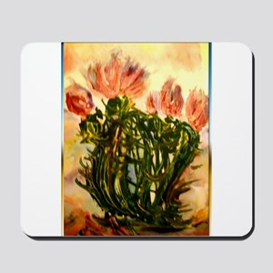 flowering cactus, southwest art Mousepad