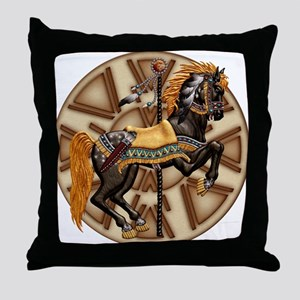 Harvest Moons Plains Pony Throw Pillow
