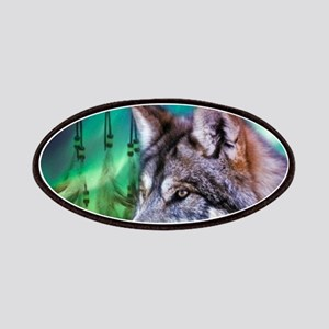 native dream catcher wolf northern light Patch