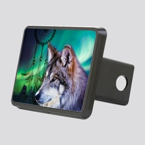 native dream catcher wolf Rectangular Hitch Cover