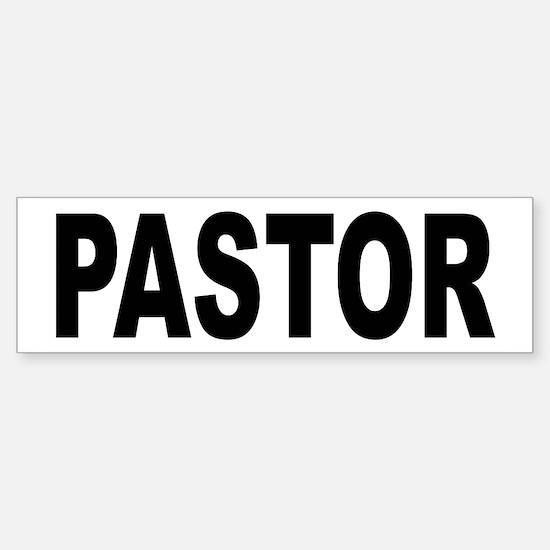 Pastor Bumper Bumper Bumper Sticker
