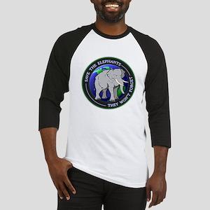 Save The Elephants Dark T-Shirts Baseball Jersey