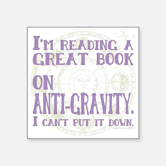Anti-Gravity Books Funny Sticker