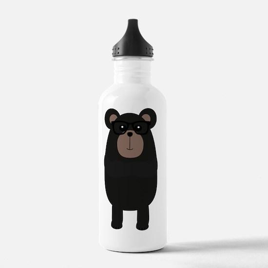 Nerd Black Bear Water Bottle