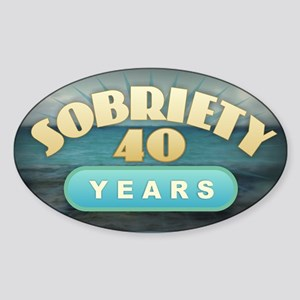 Sober 40 Years - Alcoholics Sticker