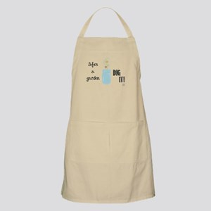 Life's a Garden Dig It (white bg) Apron