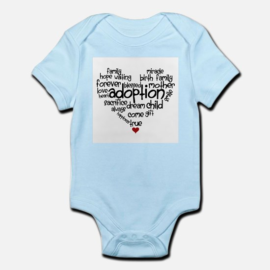 Adoption words heart Body Suit