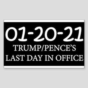 Trump's Last Day - Black Sticker