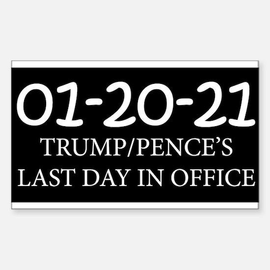Trump's Last Day - Black Decal