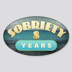 Sober 8 Years - Alcoholics Sticker
