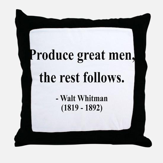 Walter Whitman 10 Throw Pillow
