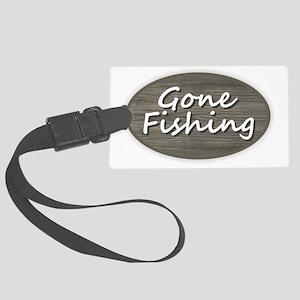 Gone Fishing Large Luggage Tag