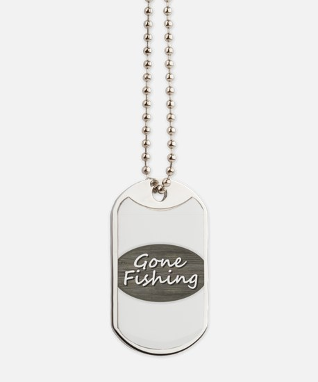 Gone Fishing Dog Tags