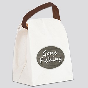 Gone Fishing Canvas Lunch Bag