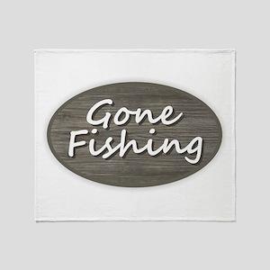 Gone Fishing Throw Blanket