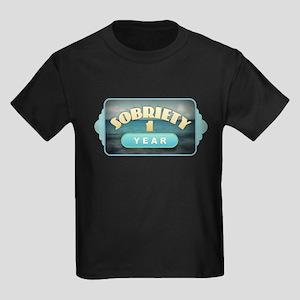Sober 1 Year - Alcoholics T-Shirt