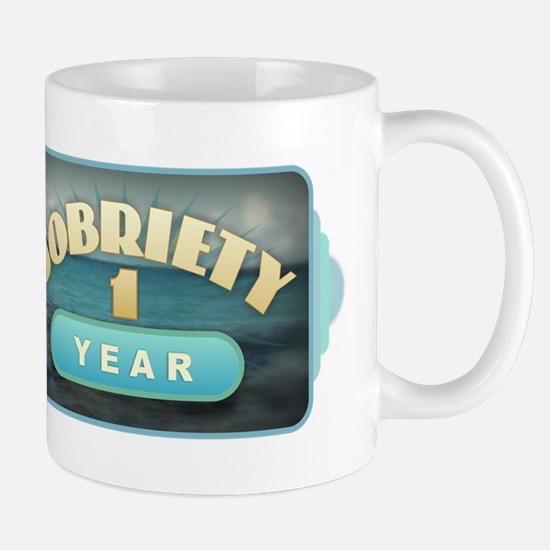 Sober 1 Year - Alcoholics Mugs
