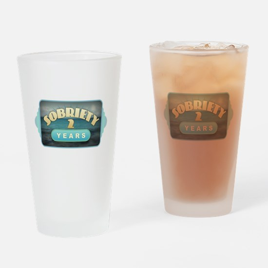 Sober 2 Years - Alcoholics Drinking Glass