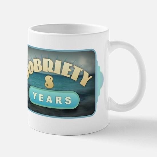 Sober 8 Years - Alcoholics Mugs