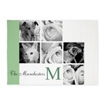 Monogram and Your Photos Here 5'x7'Area Rug