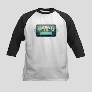 Sober 40 Years - Alcoholics Baseball Jersey