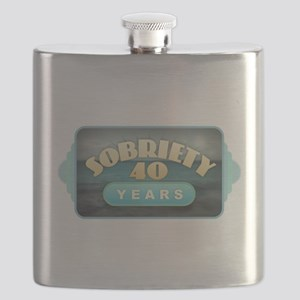Sober 40 Years - Alcoholics Flask