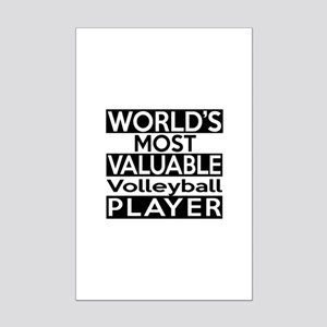 Most Valuable Volleyball Player Mini Poster Print