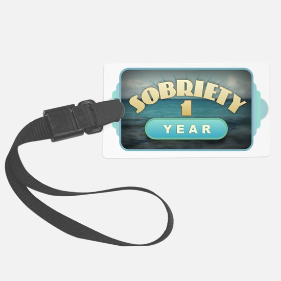 Sober 1 Year - Alcoholics Luggage Tag