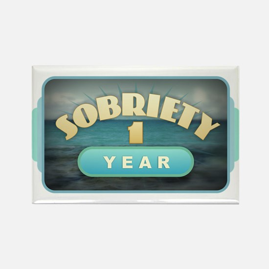 Sober 1 Year - Alcoholics Magnets