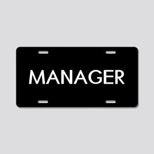 Staff: Manager Aluminum License Plate