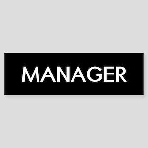 Staff: Manager Bumper Sticker