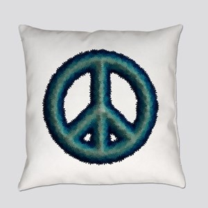 Peace Sign Flowers Everyday Pillow
