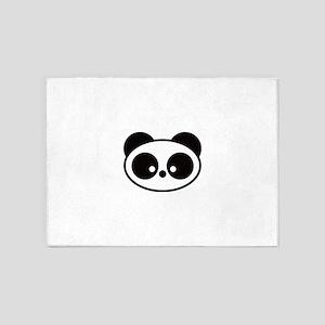 Cute Panda 5'x7'Area Rug