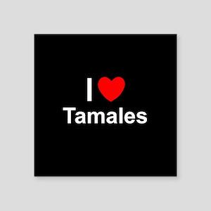 "Tamales Square Sticker 3"" x 3"""