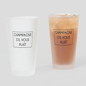 Champagne S'il Vous Plait Drinking Glass