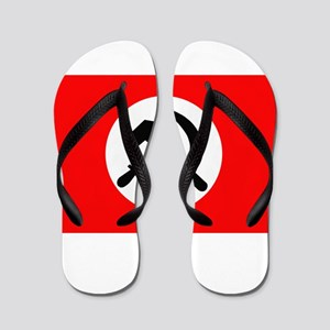 National Bolshevik Party Flag Flip Flops