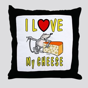 I Love Cheese Throw Pillow