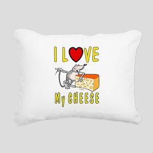 I Love Cheese Rectangular Canvas Pillow