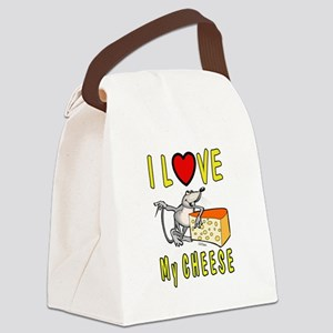 I Love Cheese Canvas Lunch Bag