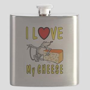 I Love Cheese Flask