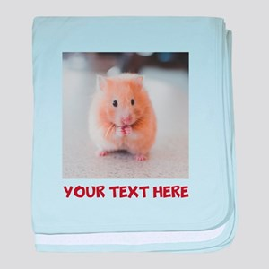 Hamster Personalized baby blanket