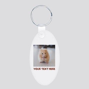 Hamster Personalized Aluminum Oval Keychain