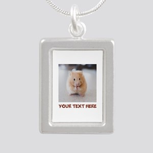 Hamster Personalized Silver Portrait Necklace